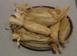 Wild mushroom tamales