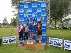 2008 Fontana Short Track podium