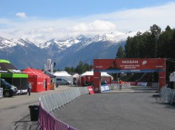 Nice views from the expo area at the World Cup in Andorra