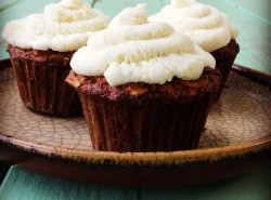 Carrot Muffins with Lime-Mascarpone Frosting