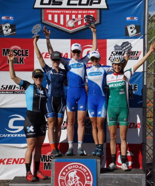 Winning the short track race at the U.S. Cup in Colorado Springs. Felt great to be back on the top step of the podium- it had been awhile.
